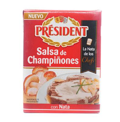 President salsa de champiñones