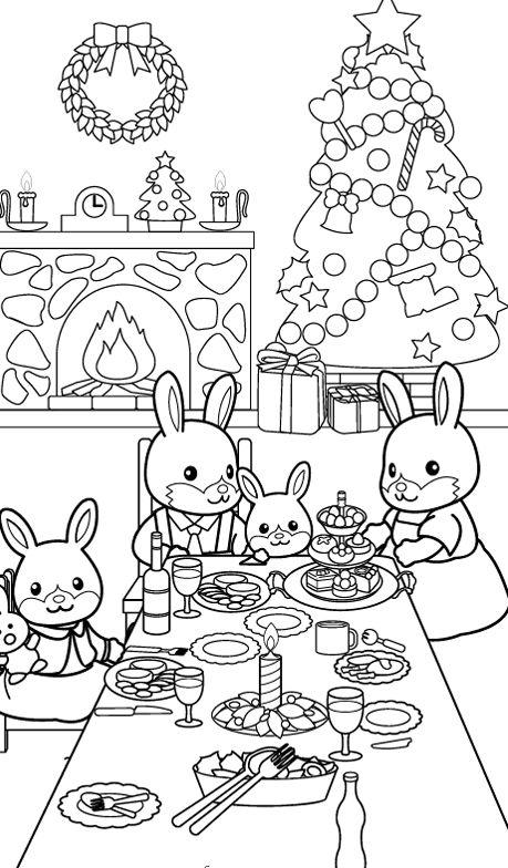 Dibujos para colorear de Animales de navidad
