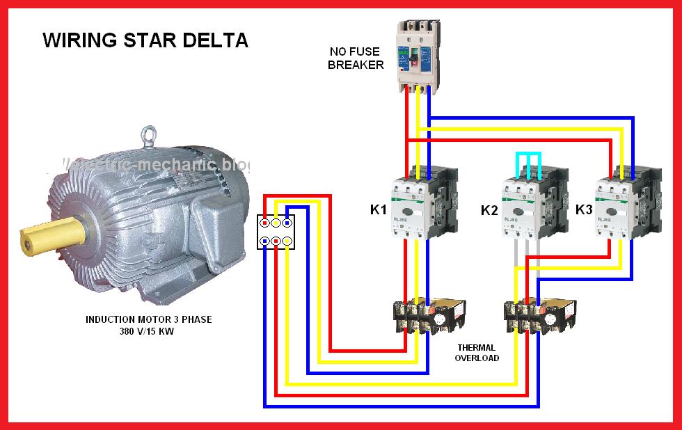 Star Delta Y Δ Motor Connection Diagram Electrical Blog