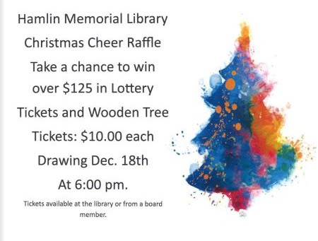 12-18 Hamlin Memorial Library Christmas Raffle