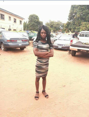 Man Who Disguises as a Woman to Have S*x With Men Arrested in Benue State (Photo)