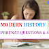 Modern History Important Questions And Answer in Hindi