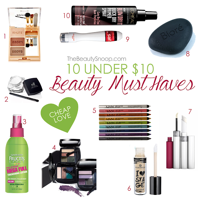 Cheap but good makeup, skincare, and haircare, budget beauty, best drugstore beauty