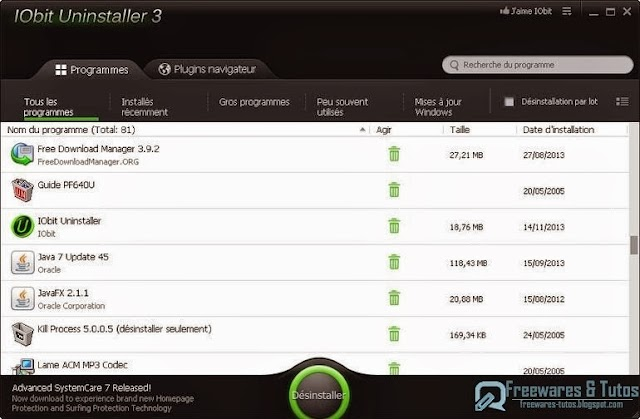 IObit Uninstaller 3 : la véritable version portable est là !