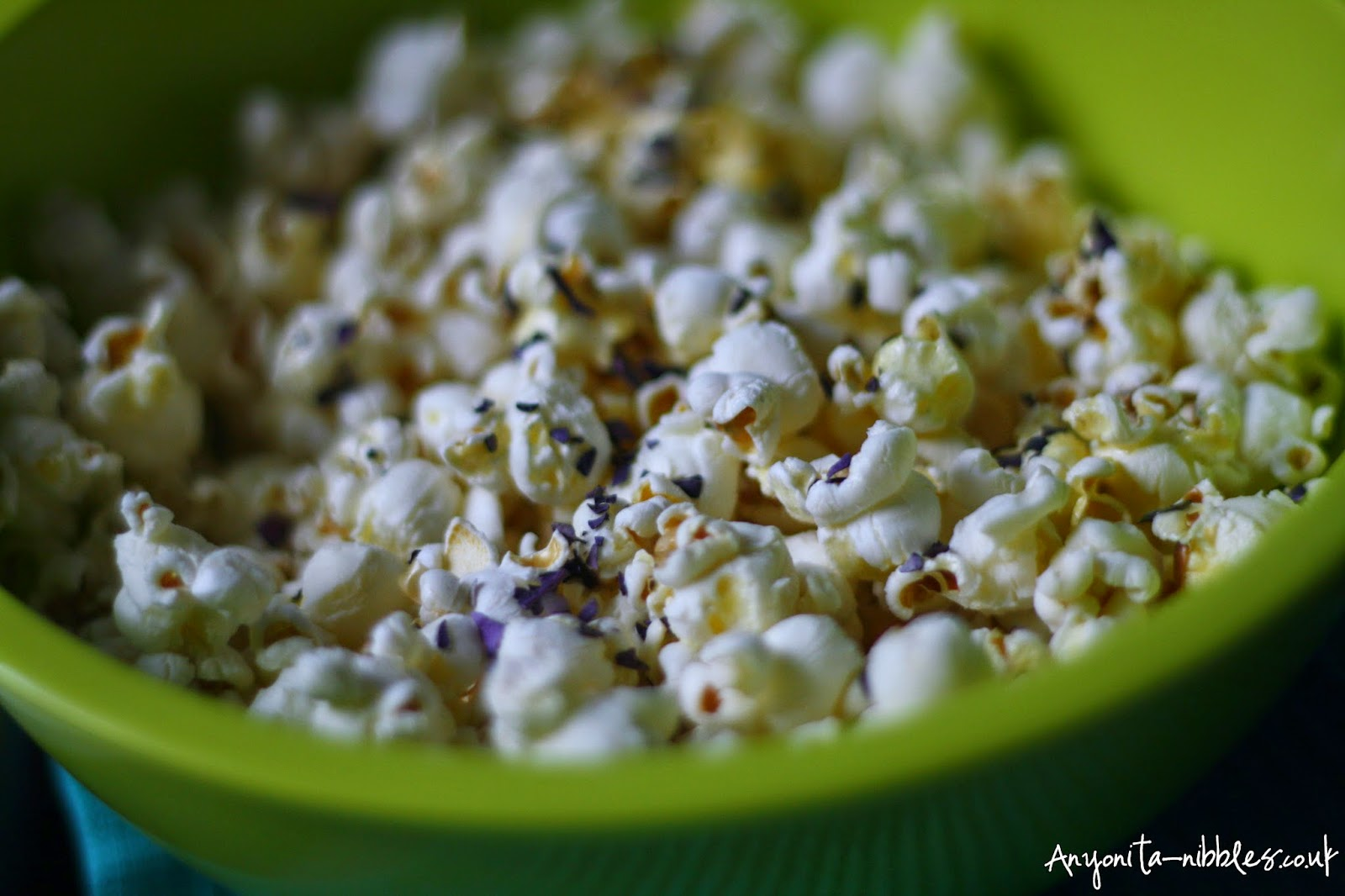 White Cheese Popcorn with Purple Basil from Anyonita-nibbles.co.uk