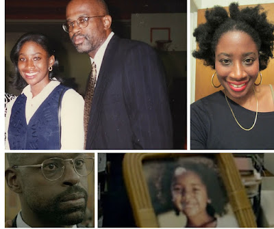 Collage of Jenee Darden, Chris Darden, Sterling K. Brown and model