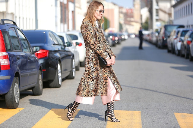 streetstyle milano fashion week, animalier
