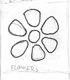 Flower Raw Drawing