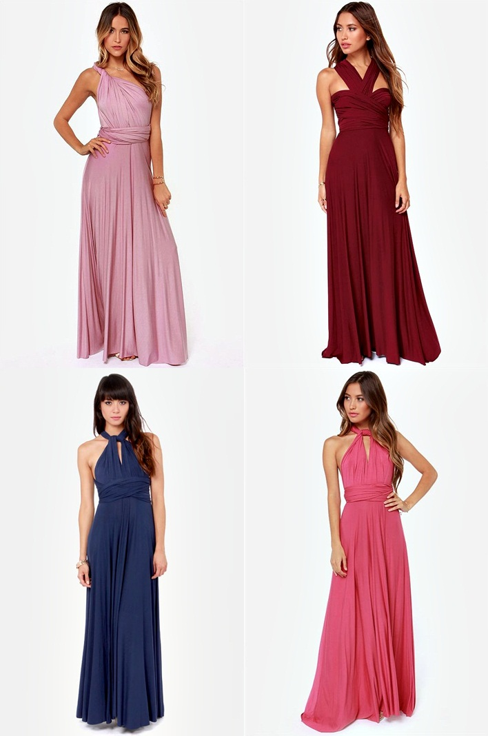 Cute Bridemaids Dresses Ideas On How To Wear A Convertible Multiway Dress Summer Wedding
