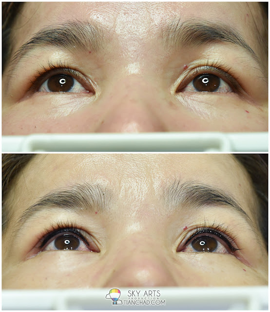 Ivy Brow Design Inner Eyeliner Tattoo Before & After - Both Eyes