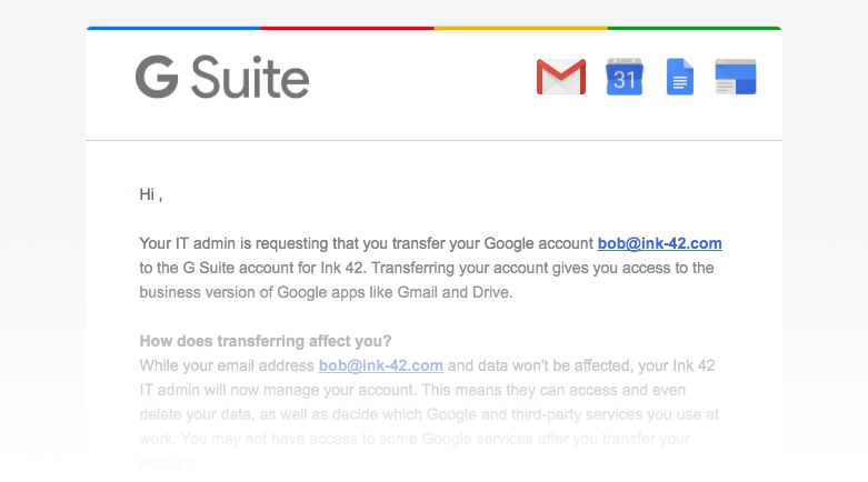 G Suite Updates Blog: Resolve conflicting accounts with the