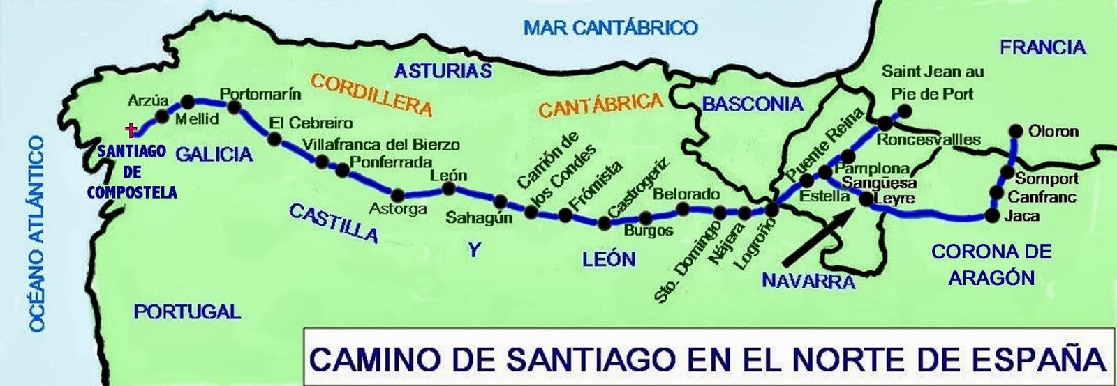HISTOGEOMAPAS: EL CAMINO DE SANTIAGO