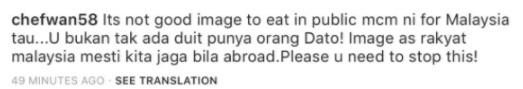 Chef Wan Tegur Dato' Aliff Syukri Makan Tepi Jalan