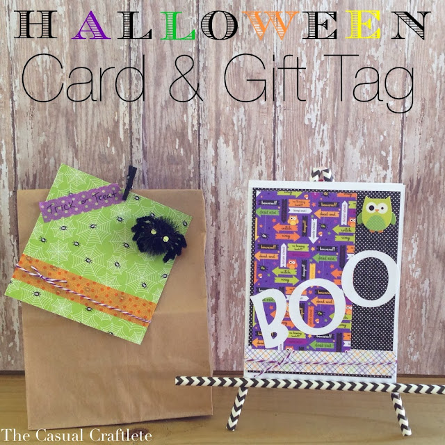DIY Halloween card and gift tag