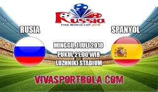 Prediksi Bola Rusia vs Spanyol 1 Juli 2018