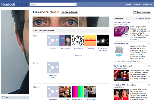 Virtual-Hideout com: 10 Creative Uses of the New Facebook Profile [PICS]