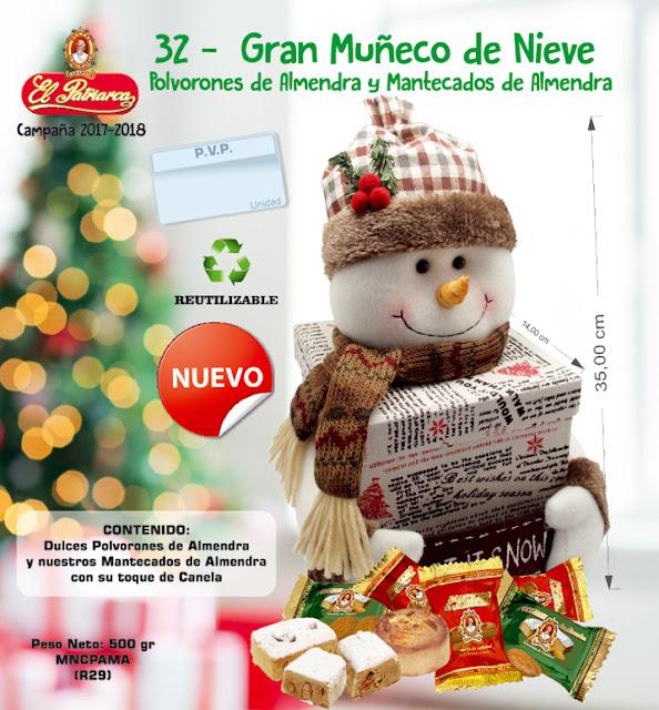 Gran Muñeco de Nieve con Mantecados y Polvorones de Almendra 500 g El Patriarca - Comercial H. Martín sa