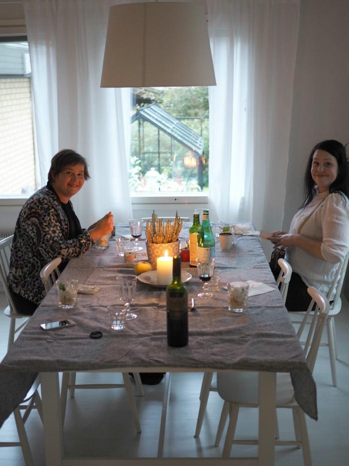 bloggaajat illallisella