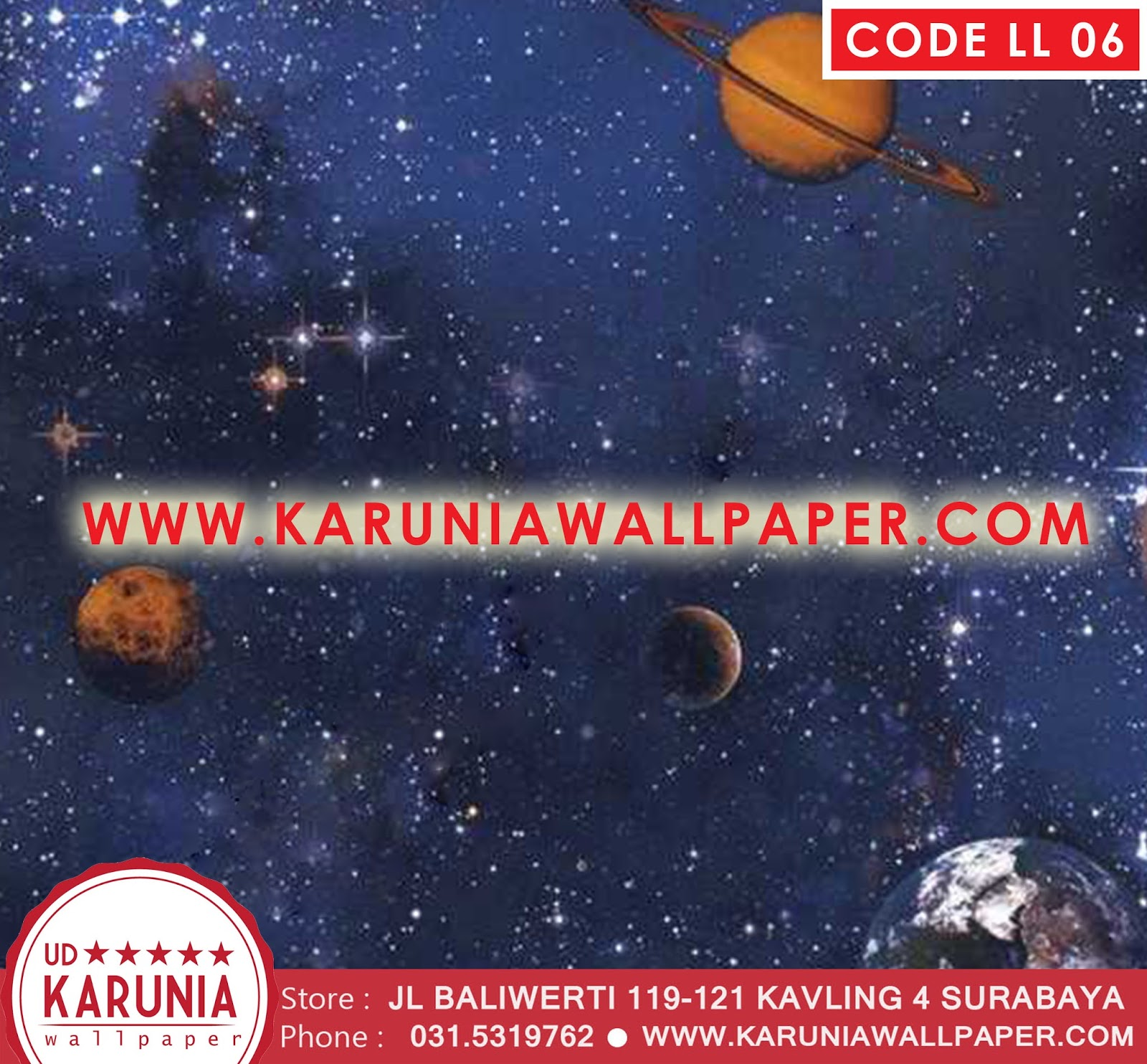 jual wallpaper galaxy planet