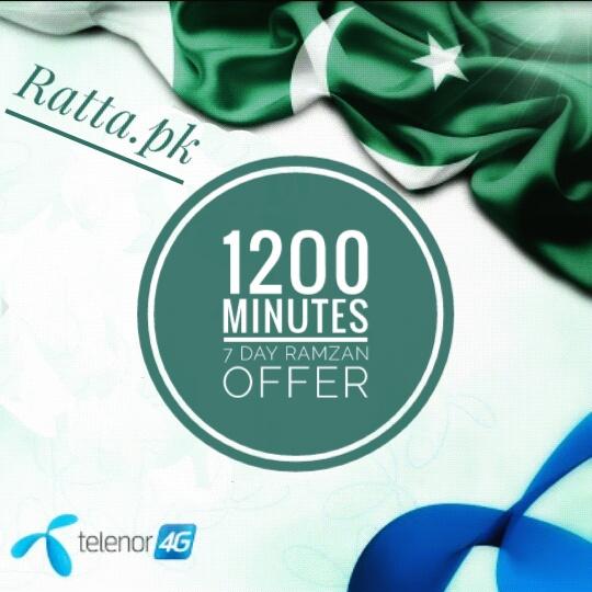 1200 Telenor Minutes 7 Day Ramzan Offer 2017