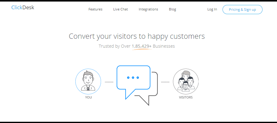 ClickDesk puts a face to your business and a voice to your answers
