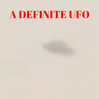 A close up of the right UFO clearly shows a Flying saucer shape.