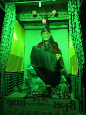 saibaba image in green color