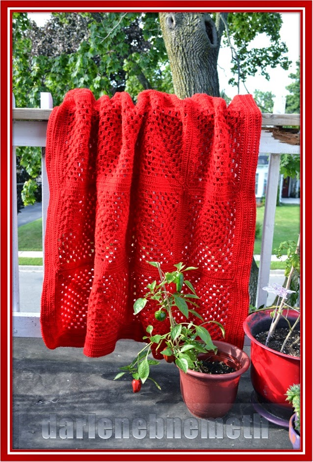 Candy Apple Red Crocheted Blanket Pattern