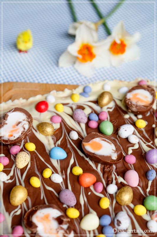 Easter Egg Alternative Chocolate Bubblewrap Bark Badgertails
