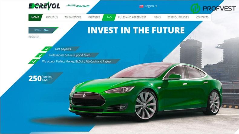 Energy Cars Revolution обзор и отзывы HYIP-проекта