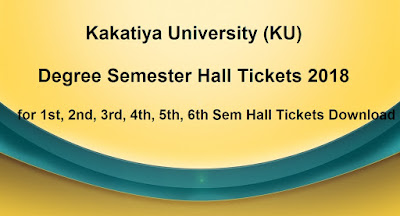 KU Degree Semester Hall Tickets 2018 Download
