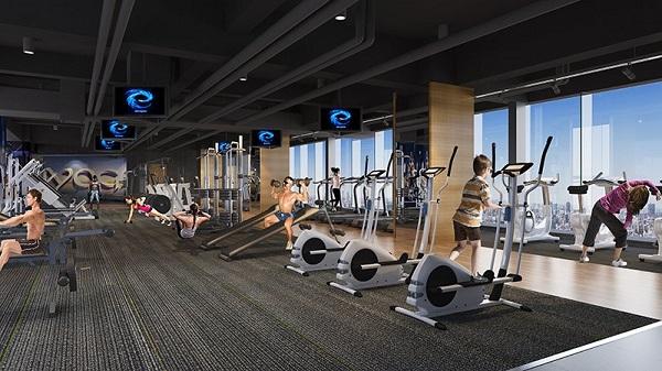 phòng gym tại hateco apolo