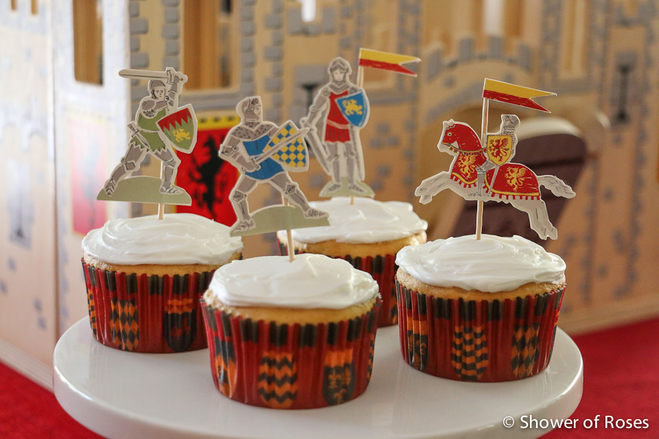 Tremendous Shower Of Roses Medieval Castle Cake Brave Knights Cupcakes Funny Birthday Cards Online Overcheapnameinfo