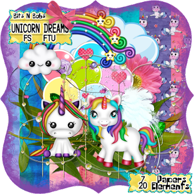 Blog train Unicorn Dreams freebie