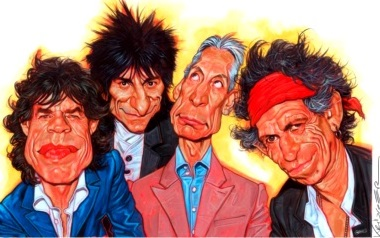 Dibujo de The Rolling Stones a colores