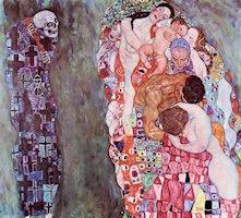 Vida y muerte, por Klimt