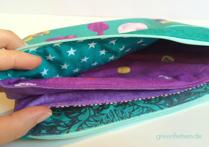 Fünf-Fach-Tasche - geräumiger Organizer für die Reise | Taschen-Sew-Along 2016