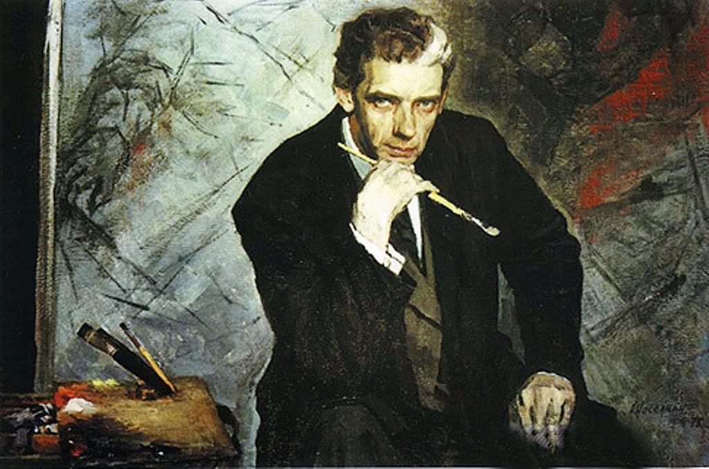 Nasedkin Anatoly Leonidovich, Self Portrait, Portraits of Painters, Fine arts, Painter Nasedkin Anatoly Leonidovich