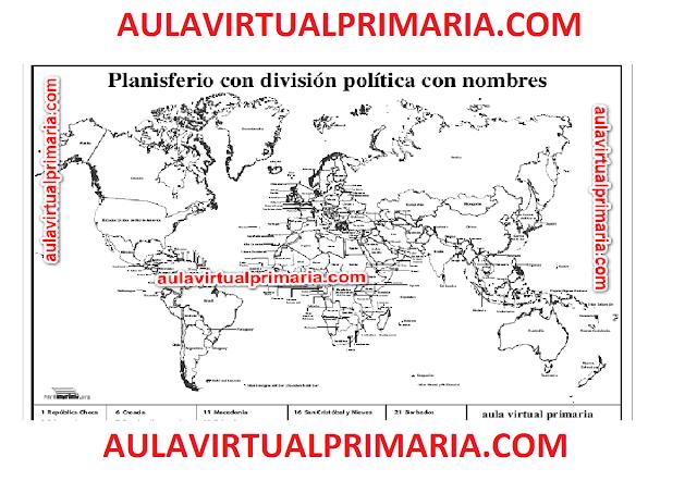 geografia,primaria,mapas,mapamundi