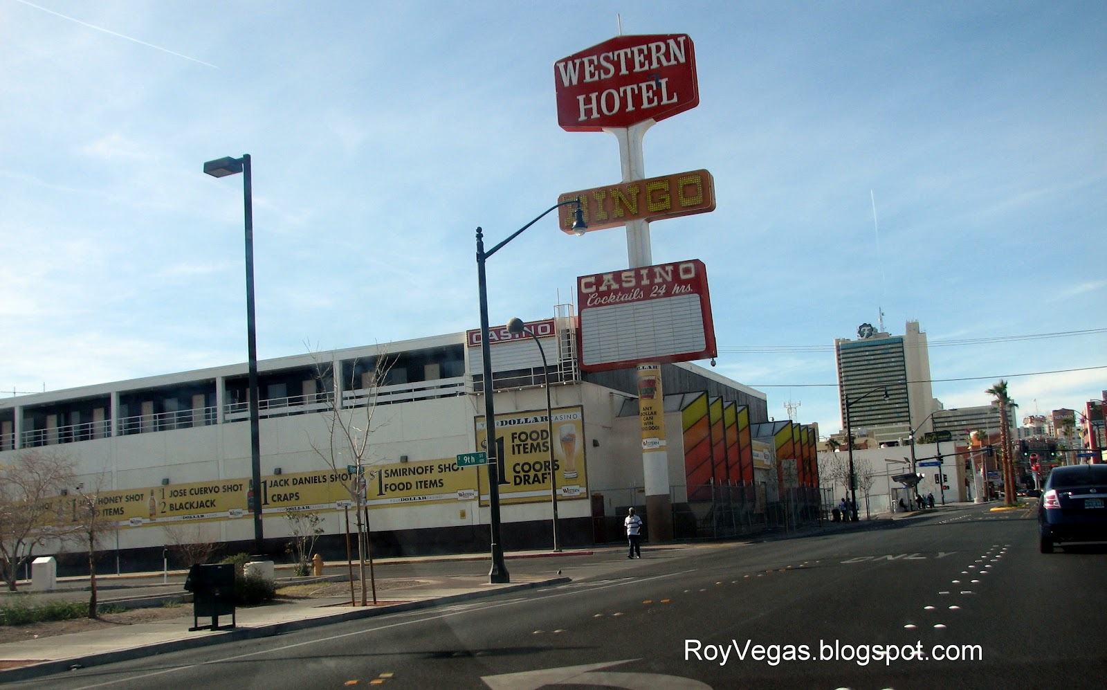 Las Vegas Photos Of The Closed Western Hotel And Click On Photo For Larger Images