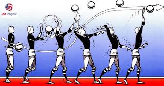 Teknik dasar permainan bola voli Service