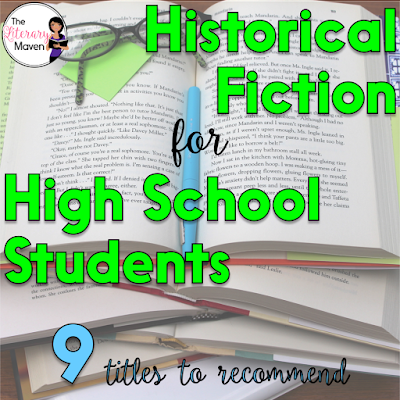 Historical fiction is my favorite genre to read because I love history (maybe I should have been a social studies teacher). It's also a genre I love to recommend to students because they learn about an issue, event, or time period as they are reading. Here's 9 historical fiction titles, that I've recently read and would recommend to high school students.