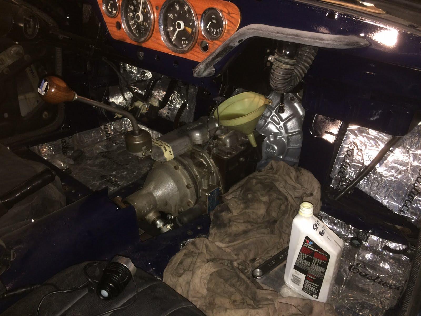 1967 Mk3 Spitfire Restoration Putting Oil In The Spitfire Gearbox