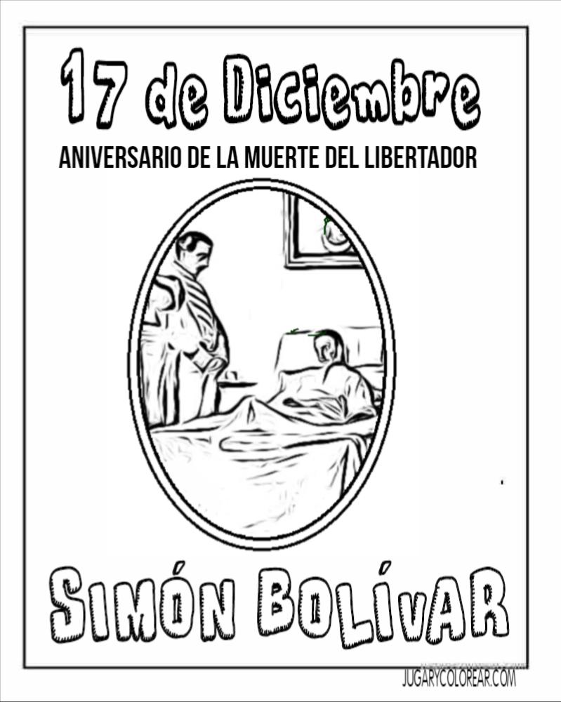 Colorear Muerte Del Libertador Simón Bolívar