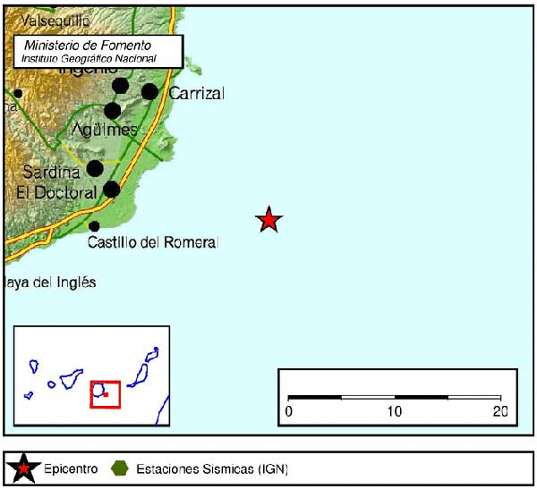 Terremoto Sureste Gran Canaria