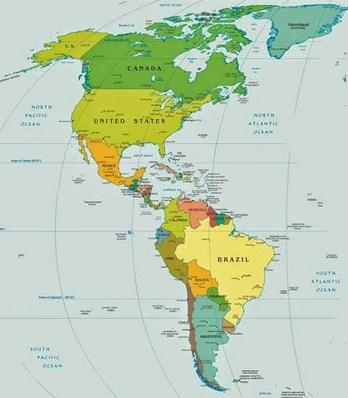Cara Menggunakan Peta Benua Amerika