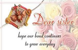 Happy Raksha bandhan wishes for brother in English: