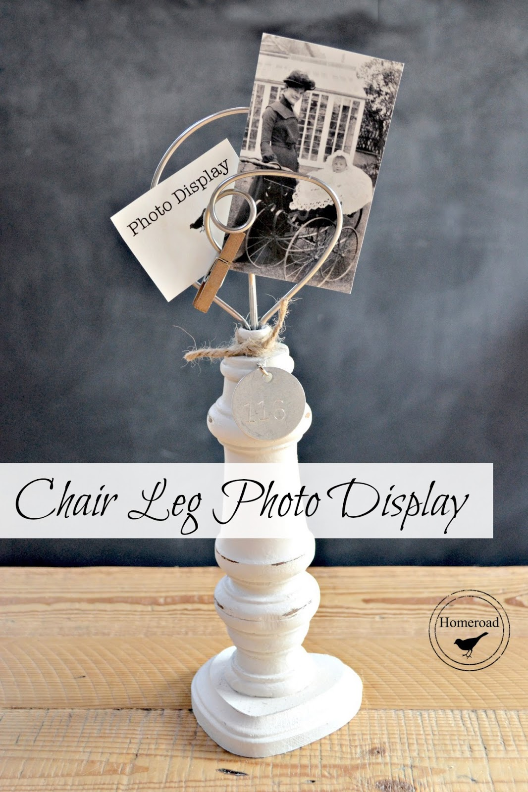 chair leg vintage photo display www.homeroad.net