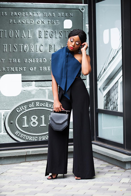 Crop top and high-waist trouser, www.jadore-fashion.com