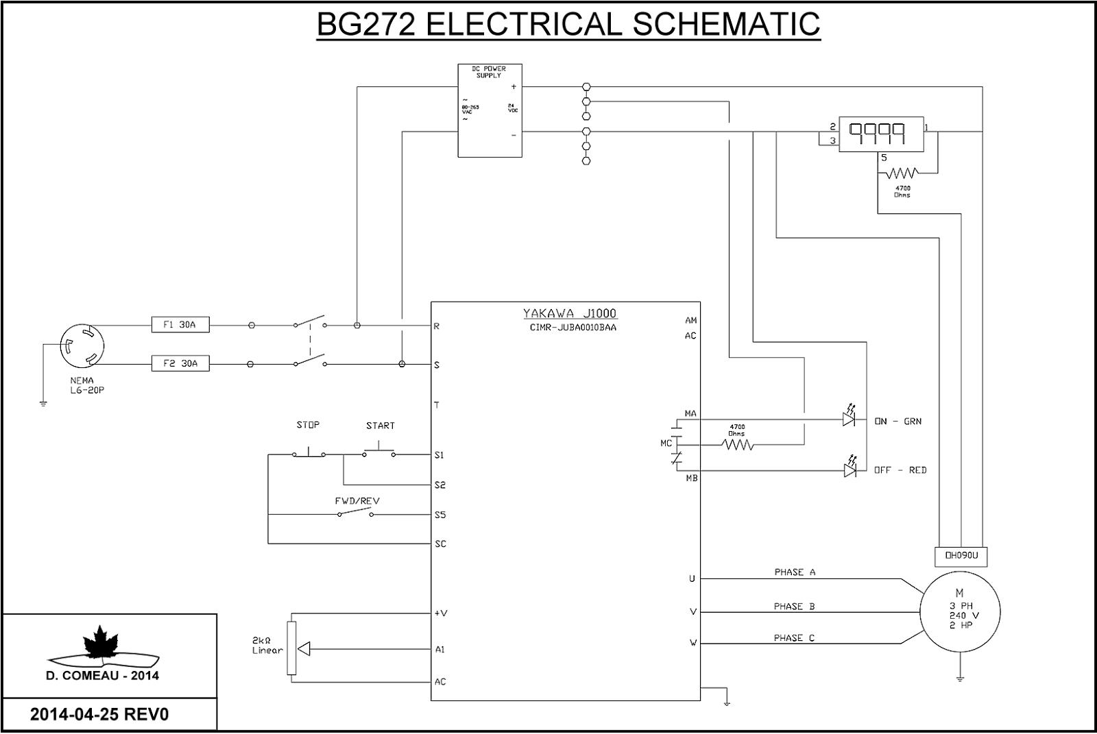 Vfd Panel Wiring Diagram 7 Wire Trailer Troubleshooting Diy Knifemaker 39s Info Center Bg 272 2 X 72 Quot Belt Grinder